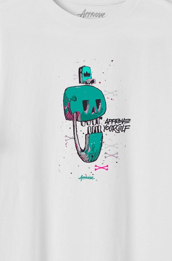 Camiseta Bold Approve Cusco Skull Branca