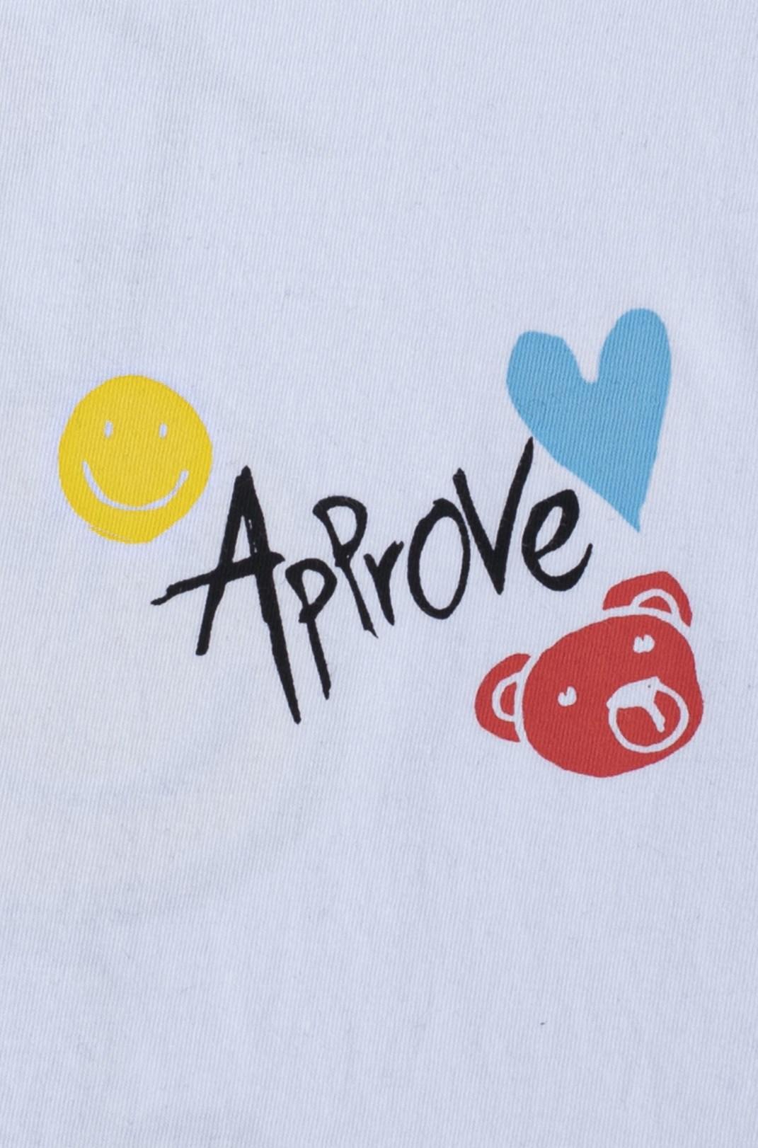 Camiseta Bold Approve Doodle Branca