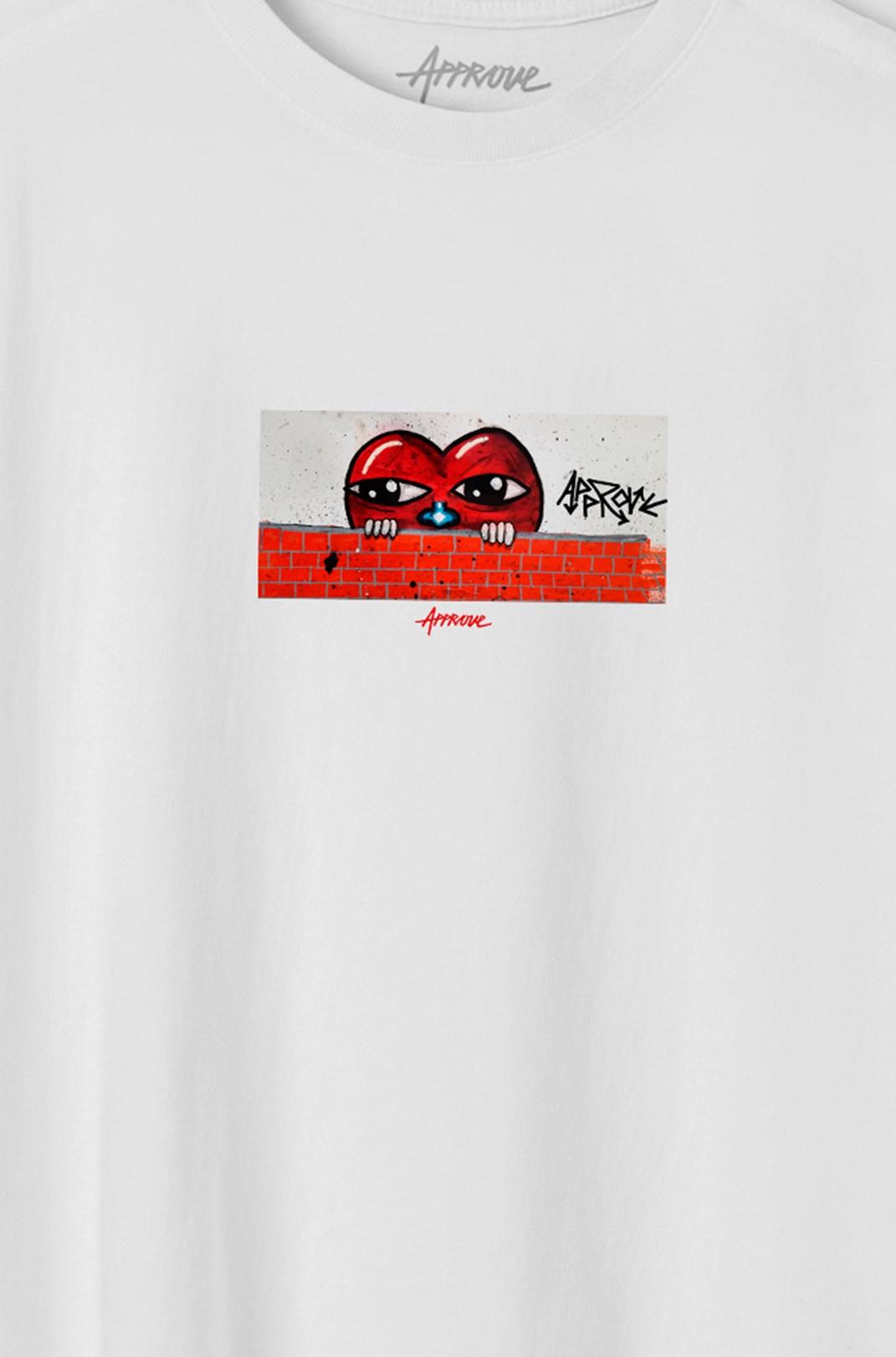 Camiseta Bold Approve Esc Heart Branca