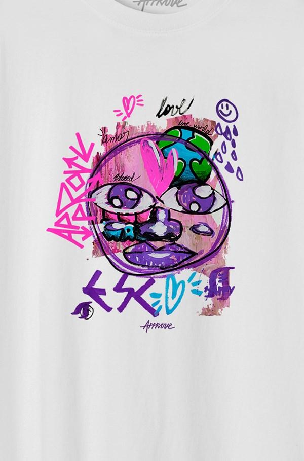 Camiseta Bold Approve Esc Wrld Branca