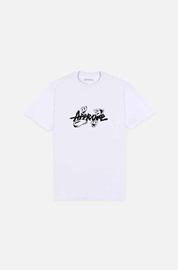 Camiseta Bold Approve Fantastic World Smile Branco