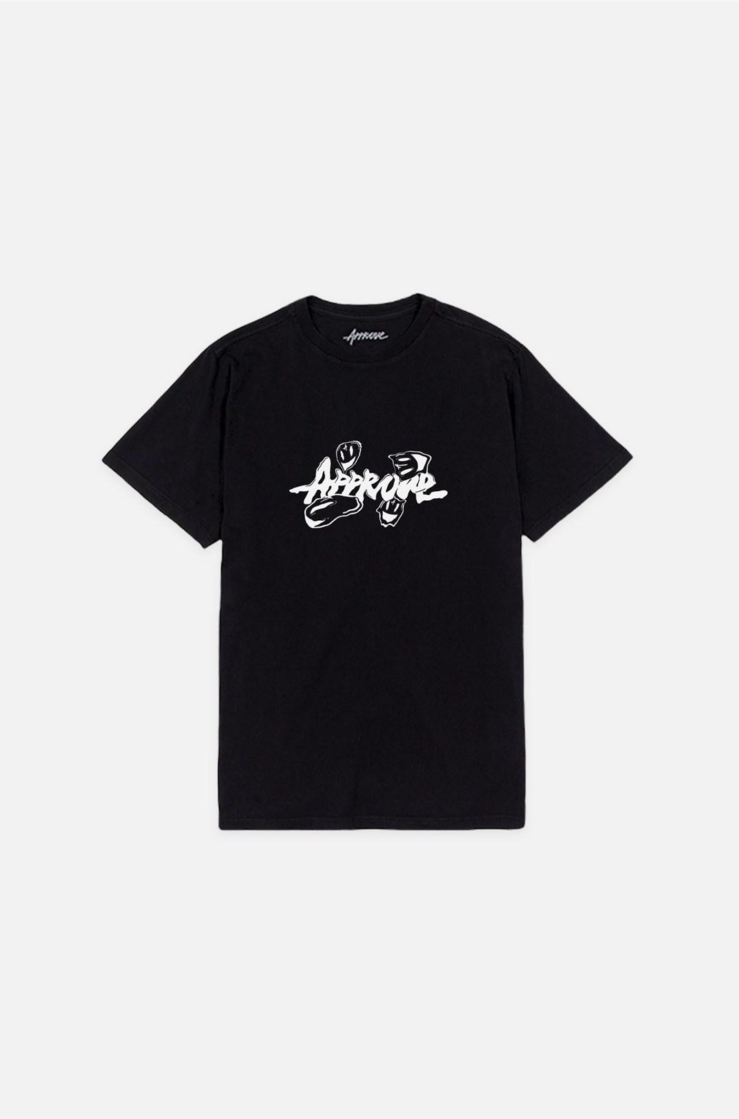 Camiseta Bold Approve Fantastic World Smile Preto