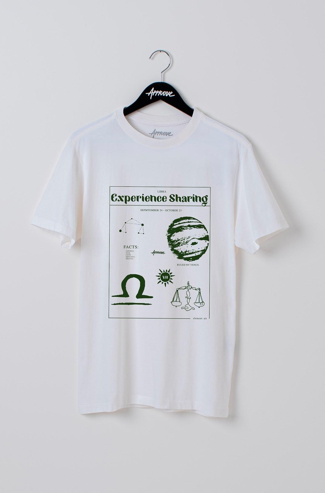 Camiseta Bold Approve Libra Off White