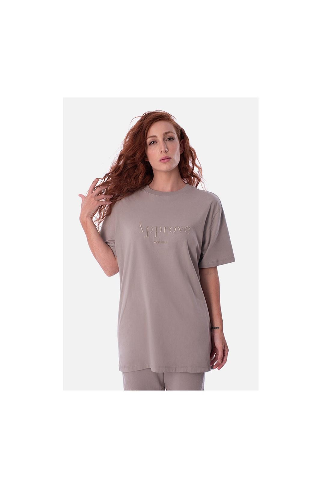 Camiseta Bold Approve Monochromatic Bege