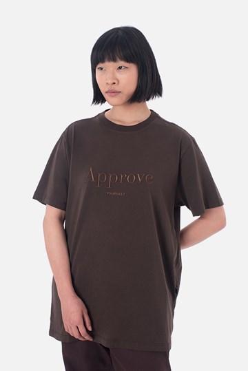 Camiseta Bold Approve Monochromatic Marrom