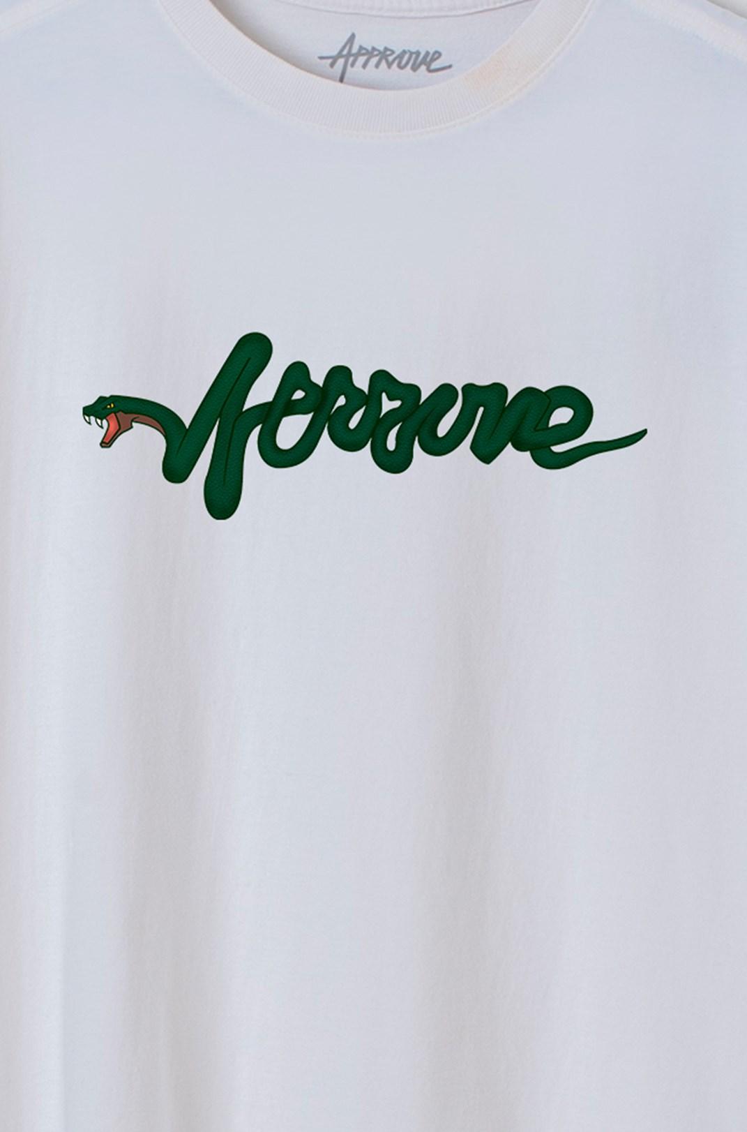 Camiseta Bold Approve Snake Type Off White