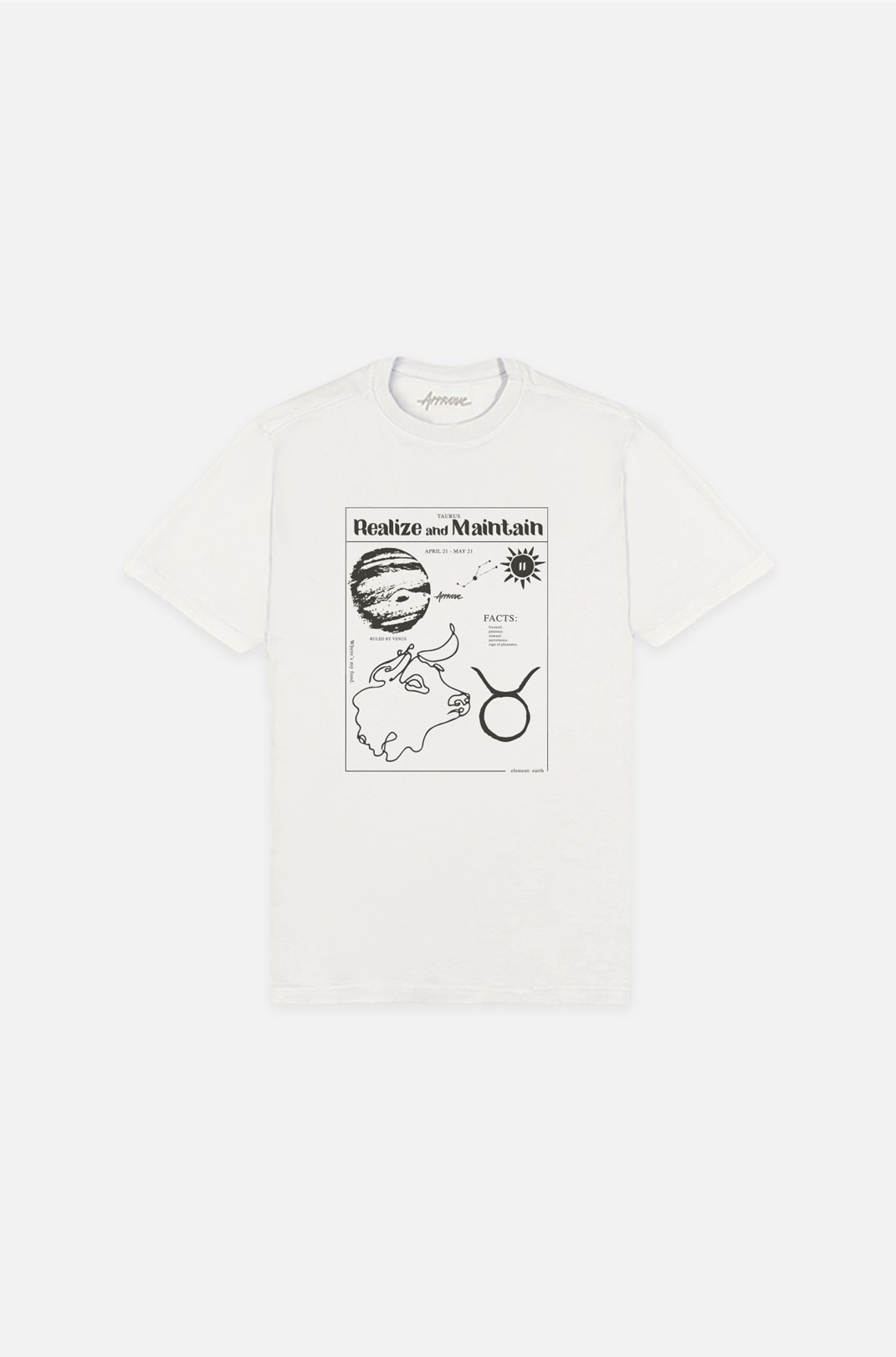 Camiseta Bold Approve Taurus Off White