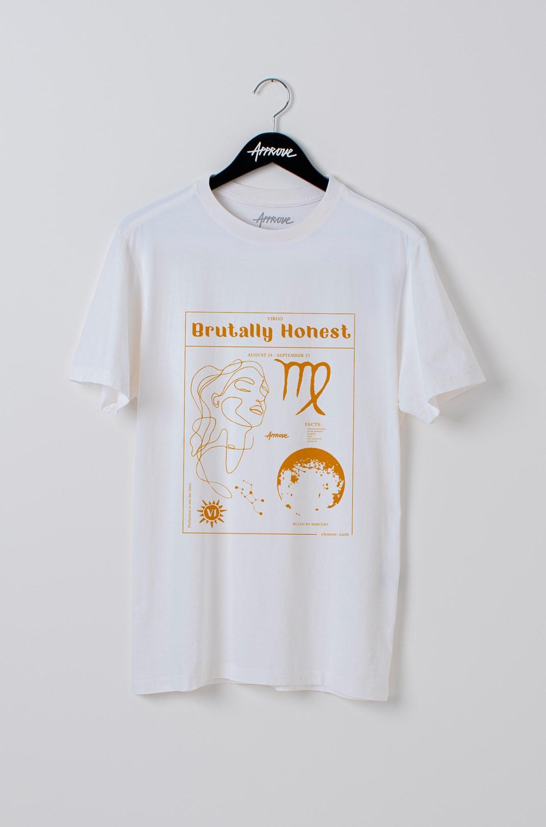 Camiseta Bold Approve Virgo Off White
