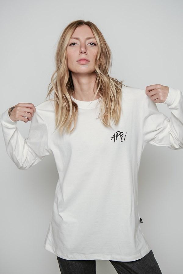 Camiseta Manga Longa Approve Tigre Oriental Off White