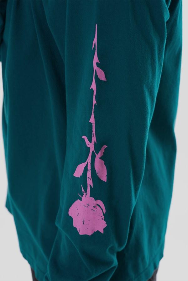 Camiseta Manga Longa Approve Upsidedown Rose Azul