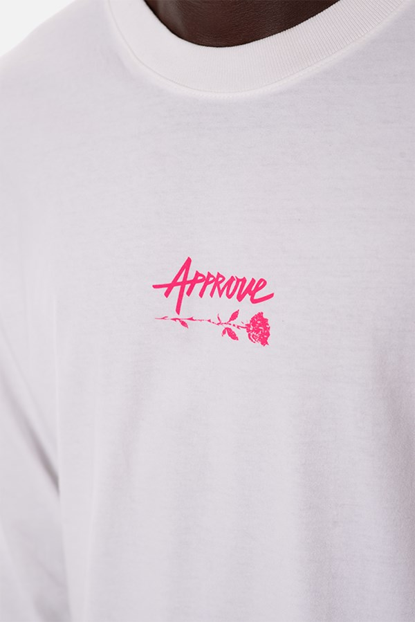 Camiseta Manga Longa Approve Upsidedown Rose Off White