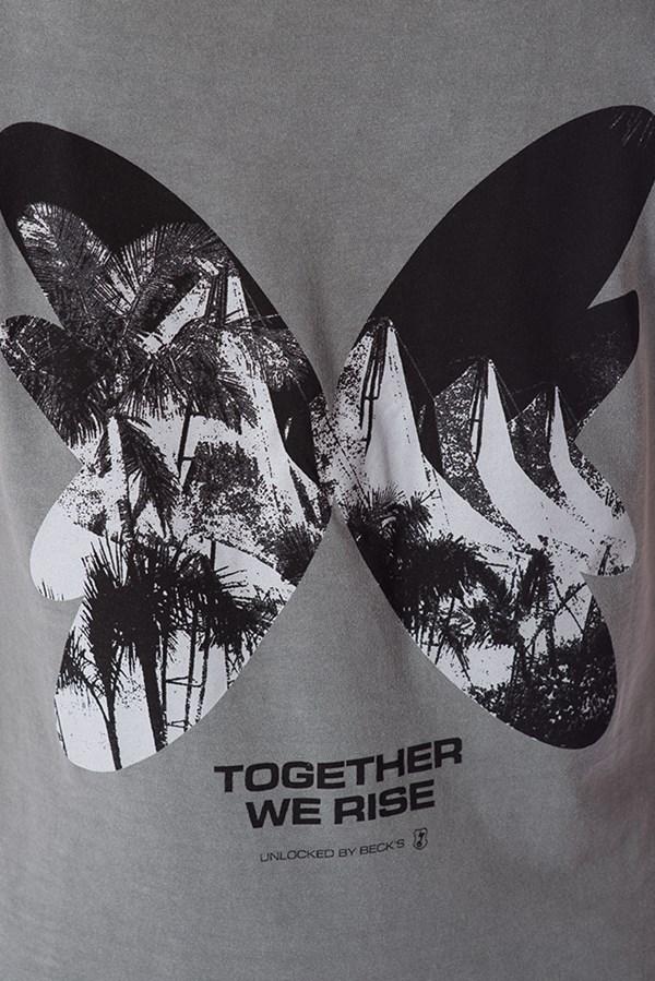 Camiseta Masculina Green Valley Butterfly Chumbo