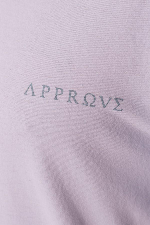 Camiseta Regular Approve Baby Angel Ruínas Branca e Roxa