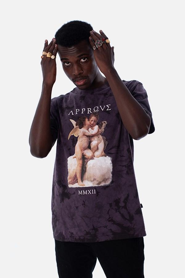 Camiseta Regular Approve Baby Angel Ruínas Roxa
