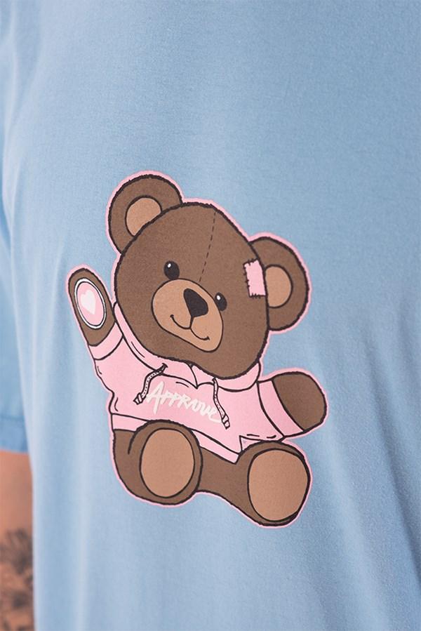 Camiseta Regular Approve Bear by Picon Azul