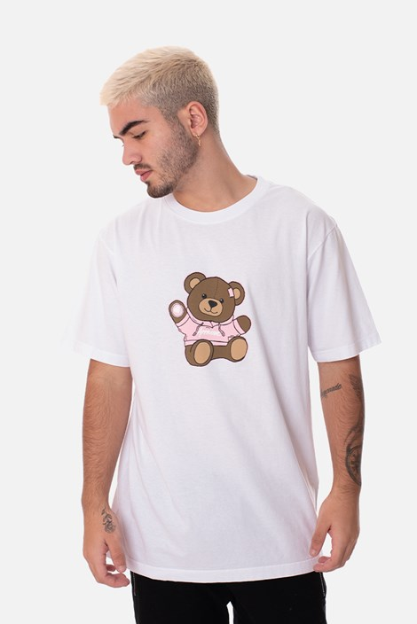 Camiseta Regular Approve Bear by Picon Branca