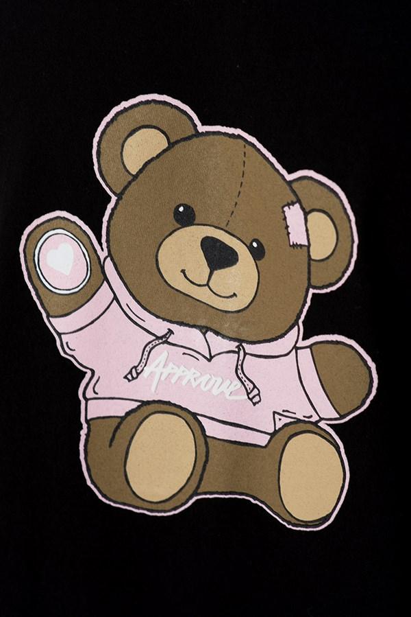 Camiseta Regular Approve Bear by Picon Preta