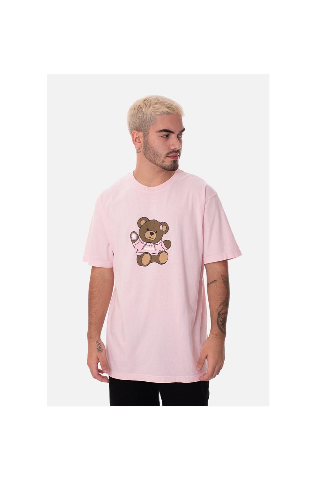 Camiseta Regular Approve Bear Rosa