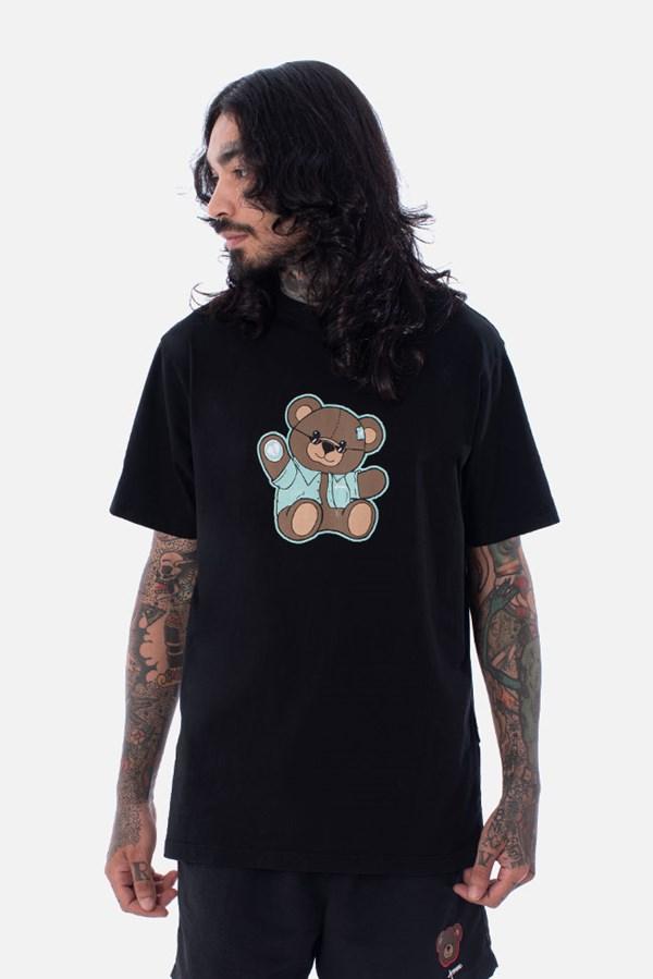 Camiseta Regular Approve Bear Summer Preta