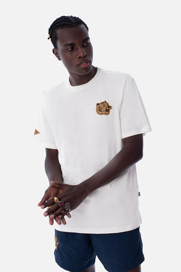 Camiseta Regular Approve Boxing Club Tiger Off White