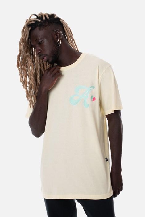 Camiseta Regular Approve Broken Heart Amarela