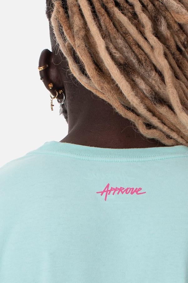Camiseta Regular Approve Broken Heart Azul