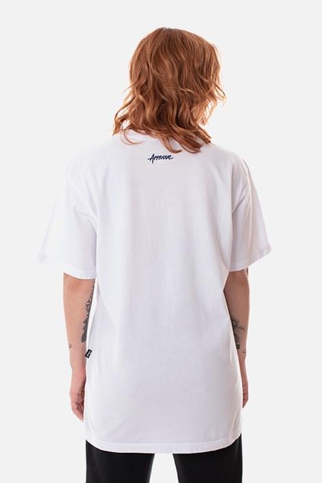 Camiseta Regular Approve Broken Heart Branca