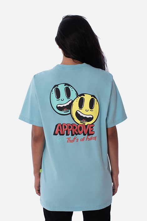 Camiseta Regular Approve Cartoon Azul