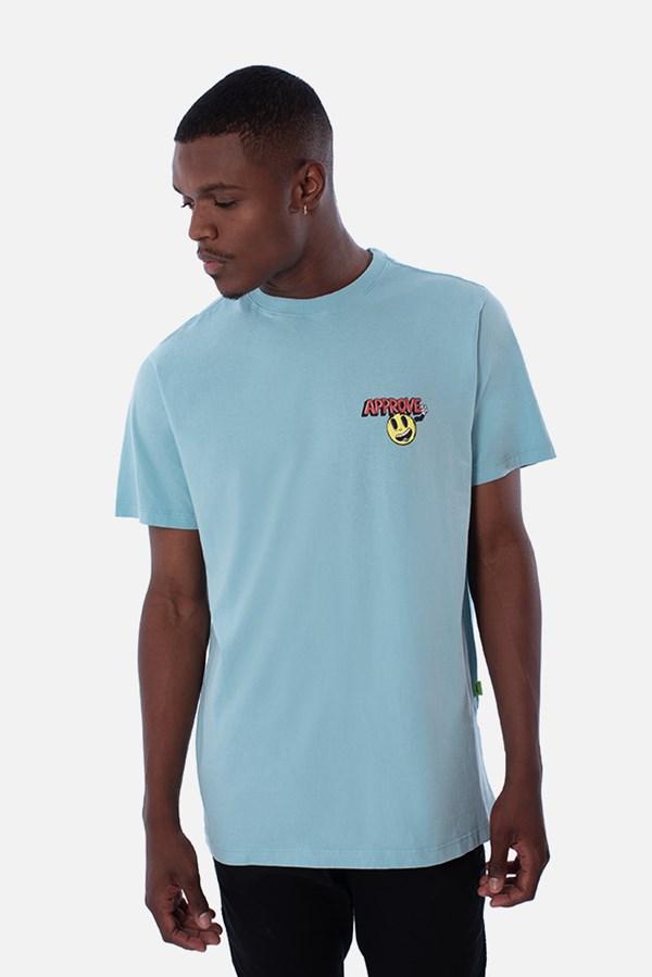 Camiseta Regular Approve Cartoon Azul