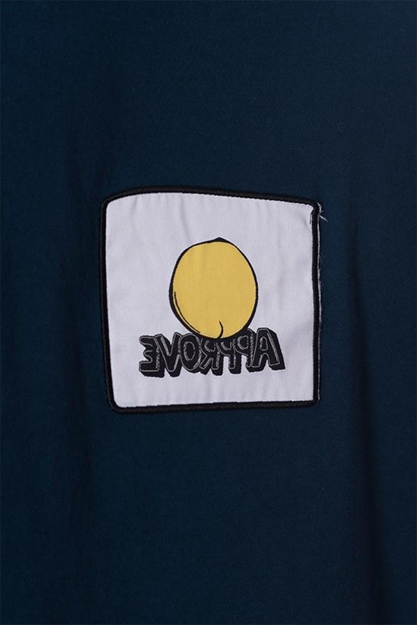 Camiseta Regular Approve Cartoon Azul Marinho