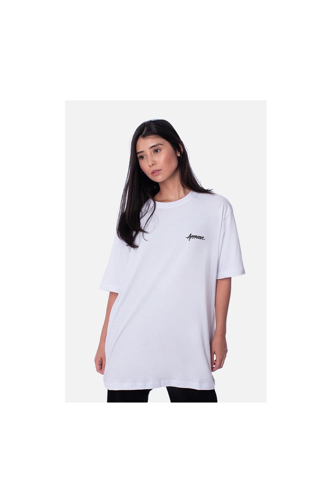 Camiseta Regular Approve Classic Logo Branca