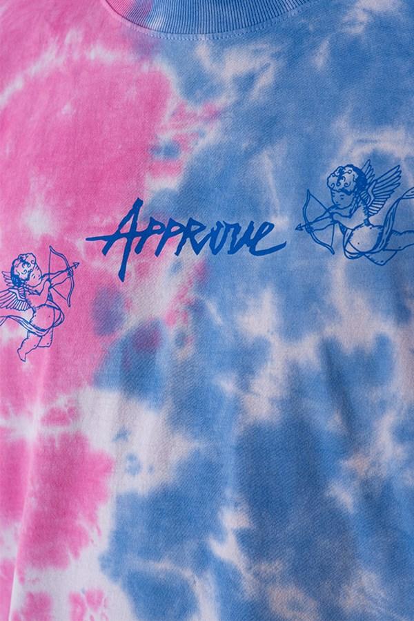 Camiseta Regular Approve Cupidos Ruínas Azul e Rosa