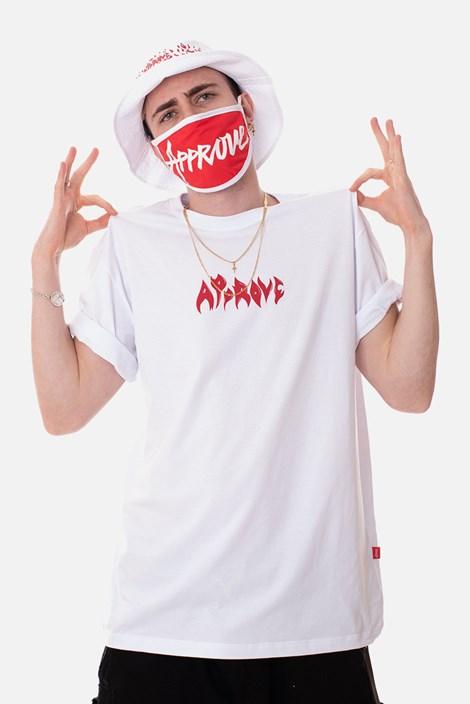 Camiseta Regular Approve Flames by Picon Branca