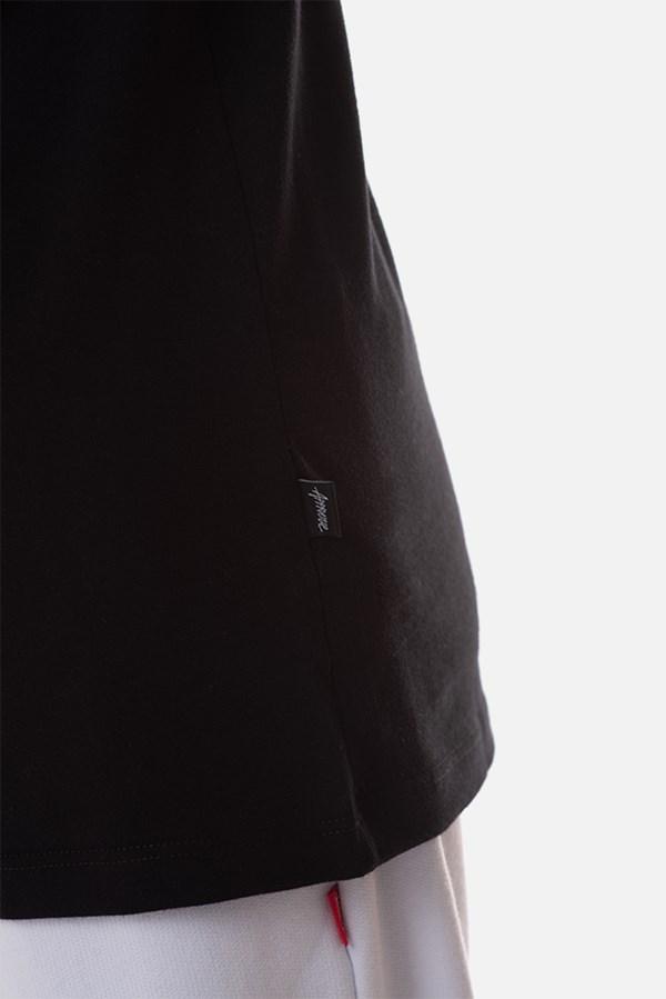 Camiseta Regular Approve Flames by Picon Preta e Turquesa