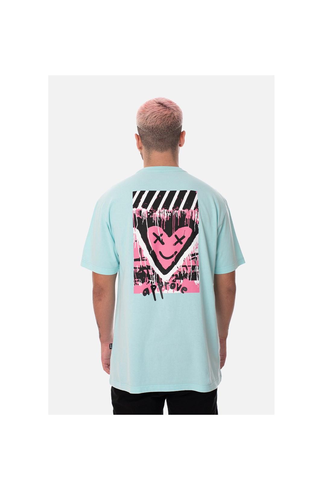 Camiseta Regular Approve Heart Azul