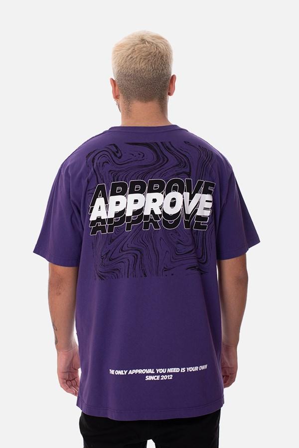 Camiseta Regular Approve Liquid Roxa