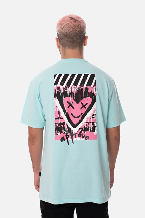 Camiseta Regular Approve Lp Heart Azul