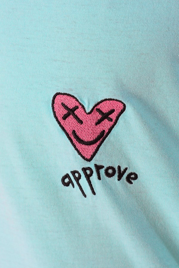 Camiseta Regular Approve Lp Heart Basic Azul