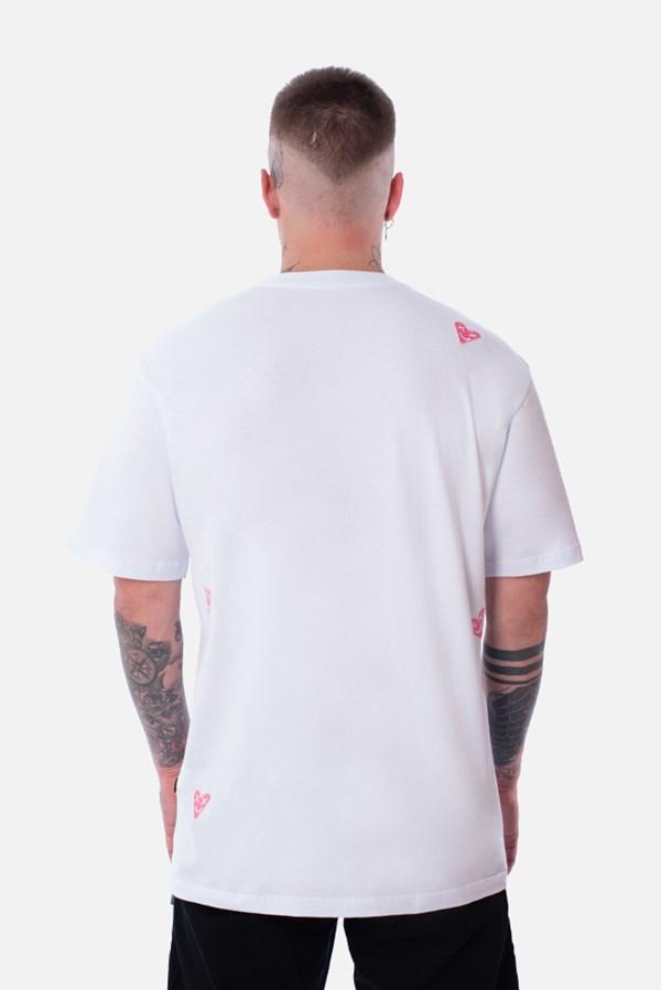 Camiseta Regular Approve Lp Heart Basic Branca