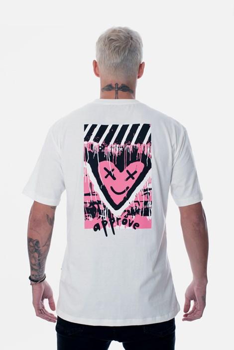 Camiseta Regular Approve Lp Heart Off White