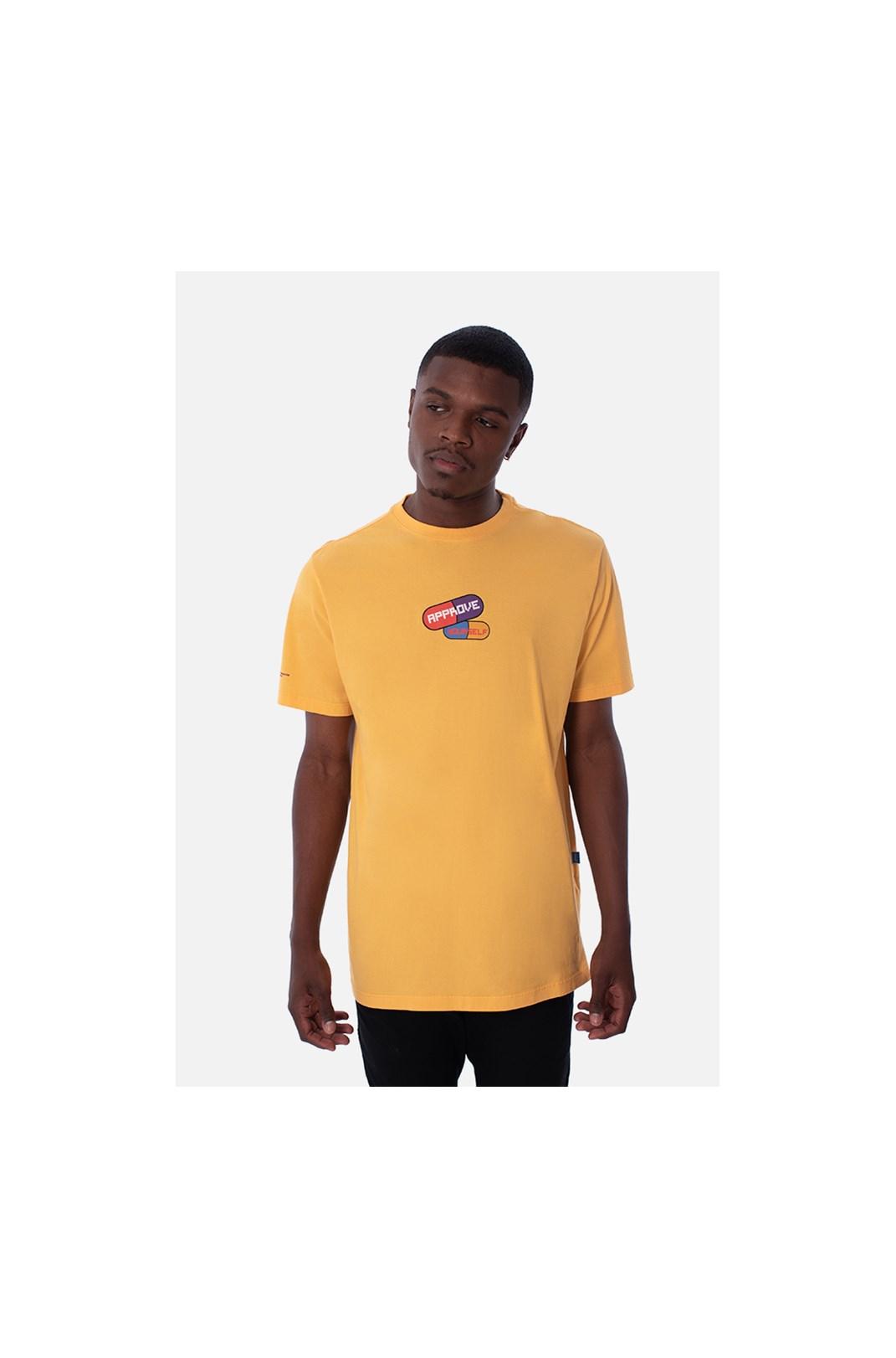 Camiseta Regular Approve Pixels&Pills Amarela