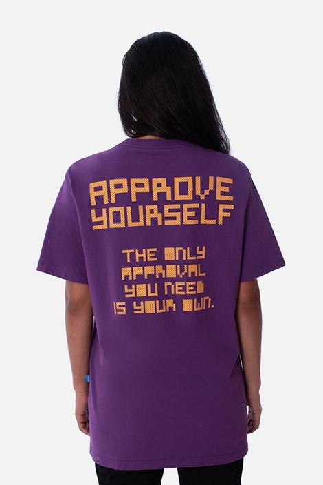 Camiseta Regular Approve Pixels&Pills Roxa
