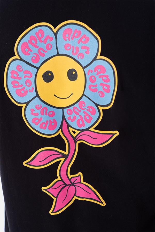 Camiseta Regular Approve Psychedelic Preta