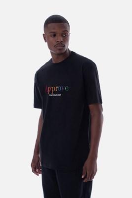 Produto Camiseta Regular Approve Rainbow Preta