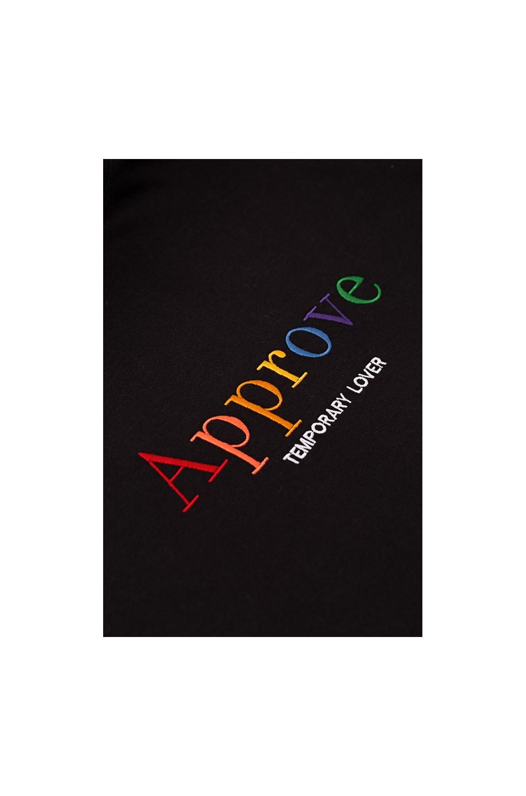 Camiseta Regular Approve Rainbow Preta