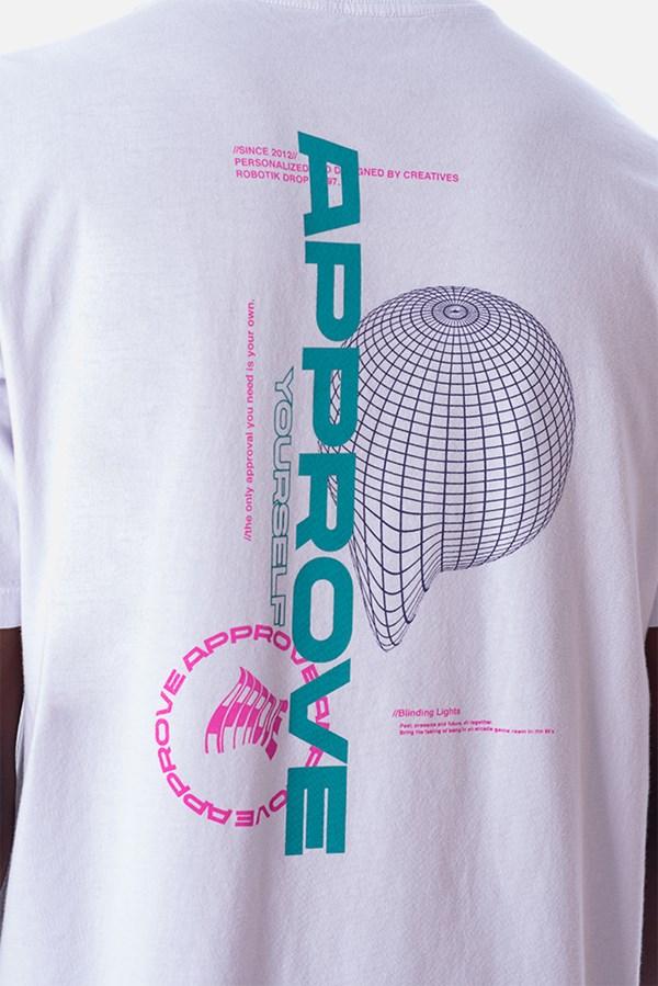 Camiseta Regular Approve Robotik Branca