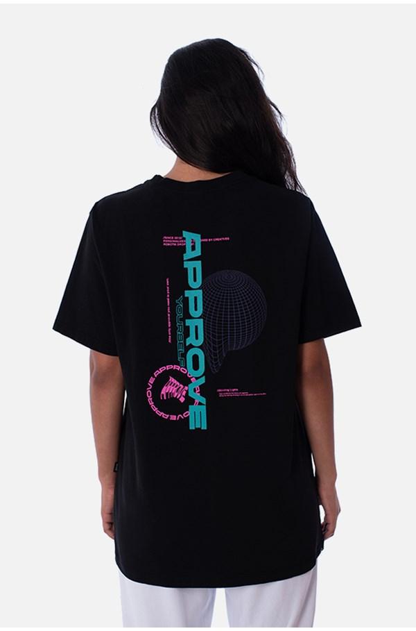 Camiseta Regular Approve Robotik Preta
