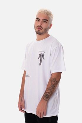Camiseta Regular Approve Ruínas Angel Statue Branca