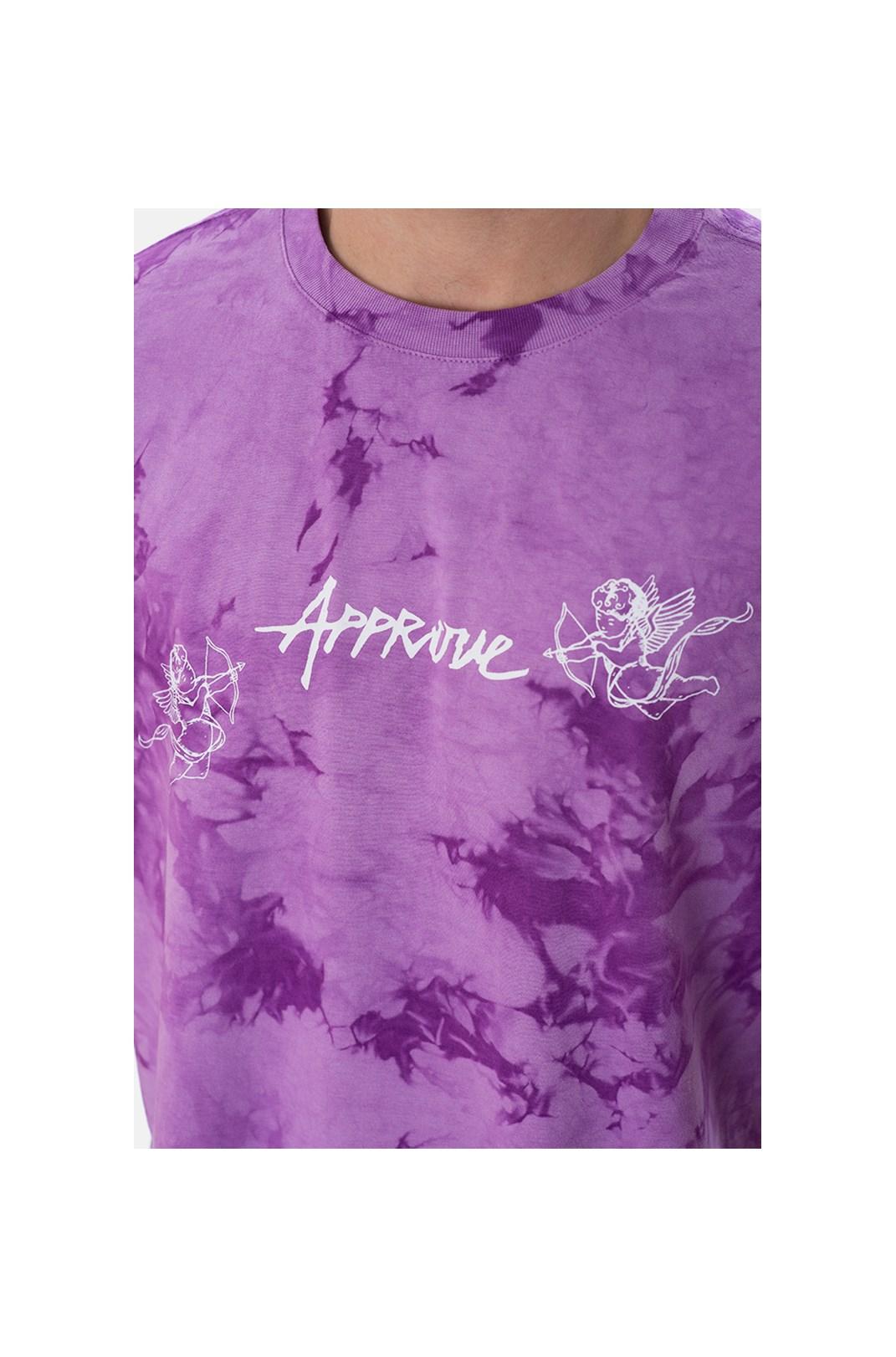 Camiseta Regular Approve Ruínas Cupidos Violeta Marmorizada