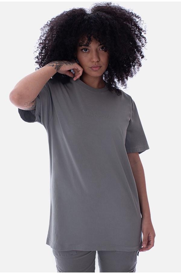 Camiseta Regular Approve Ruínas II Verde Ardósia